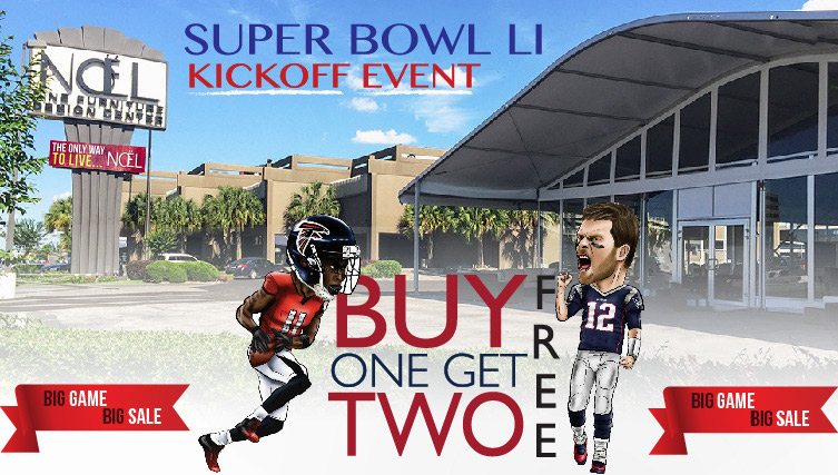Noel Buy One Get Two Free inside the Tent. Super Bowl LI Kickoff Event.