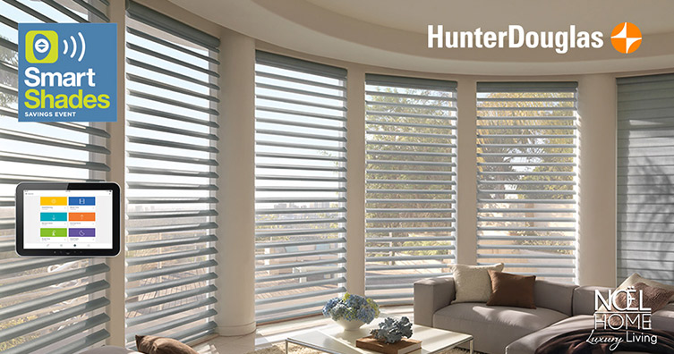 hunter Douglas smart shade event noel furniture