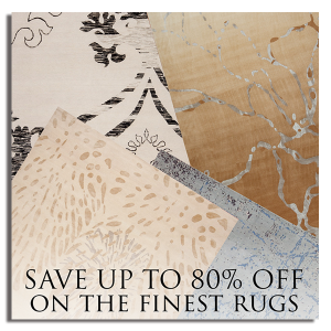 Save up to 80% off on the finest rugs