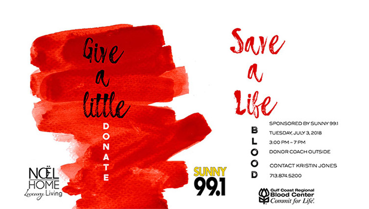 July 3 noel home sunny 99.1 blood drive