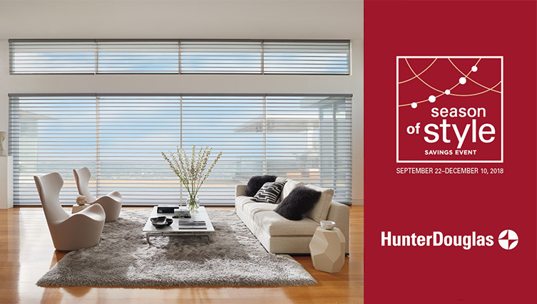 Hunter Douglas Season of Style Event 2018 Noel Furniture