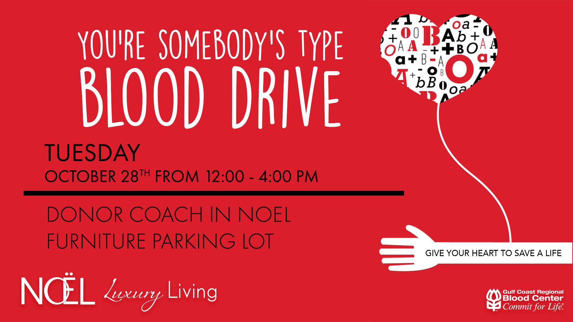 SAVE LIVES NOEL HOME BLOOD DRIVE OCTOBER 2018