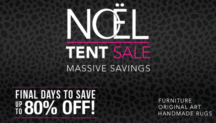 Last Call Biggest Sale of the year. The Noel Furniture Annual Tent Sale.