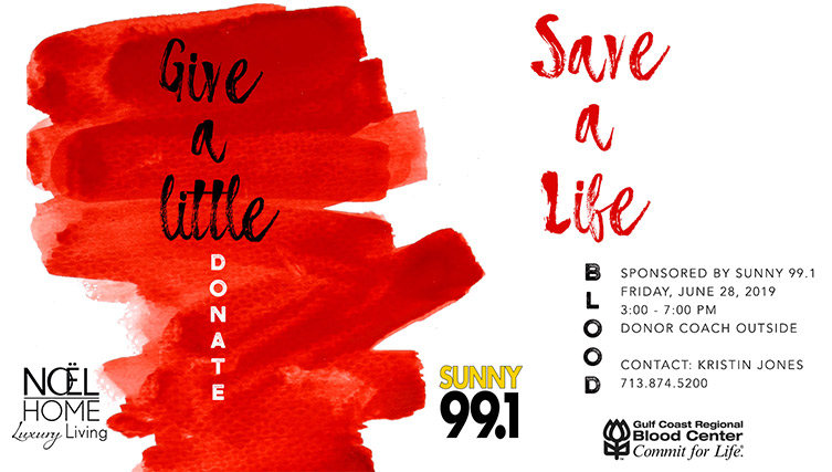 Blood Drive June 28 Sunny 99.1 Noel Furniture