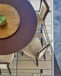 christopher guy dining room furniture with copper lazy susan