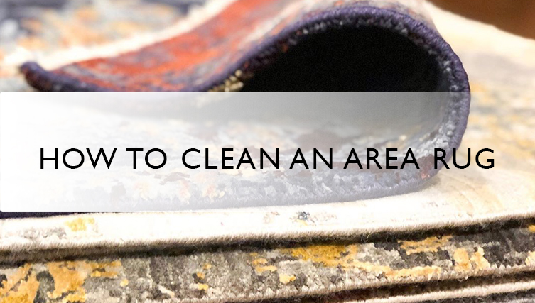 how to clean an area rug