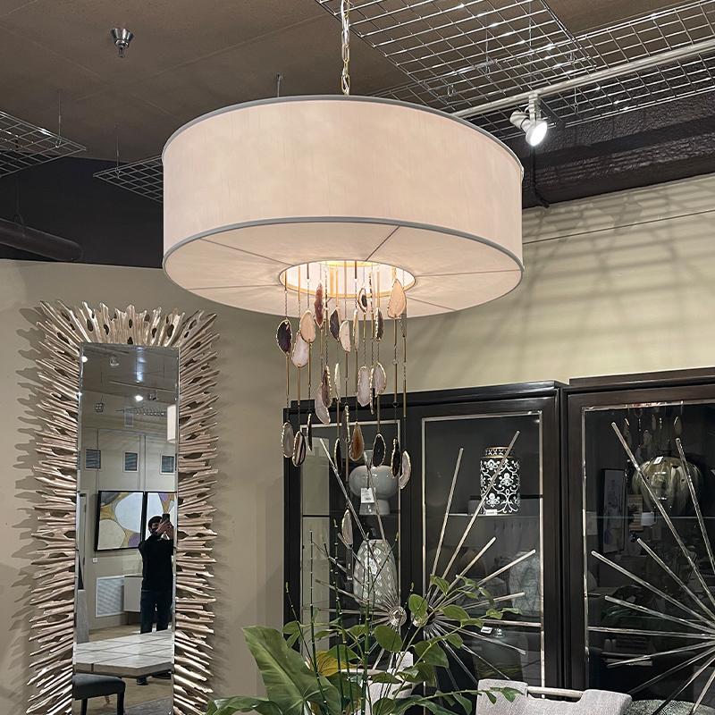 neutral chandelier